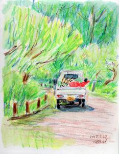 芝公園_軽トラック