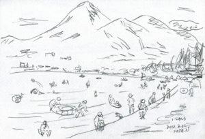 猪苗代と磐梯山